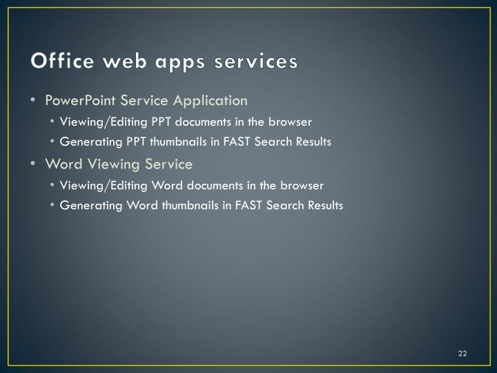 Office web apps services
