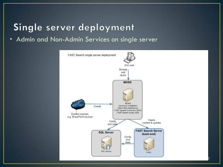 Single server deployment