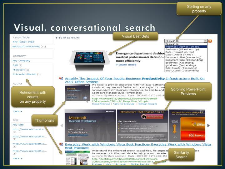 Visual, conversational search