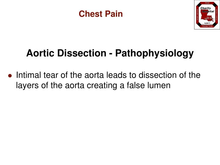 Aortic Dissection - Pathophysiology