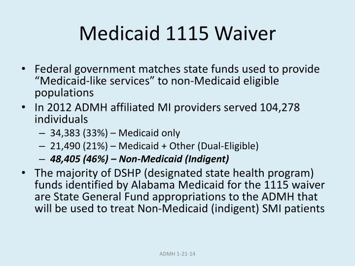 Medicaid 1115 Waiver