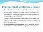 improvement strategies apr 2009