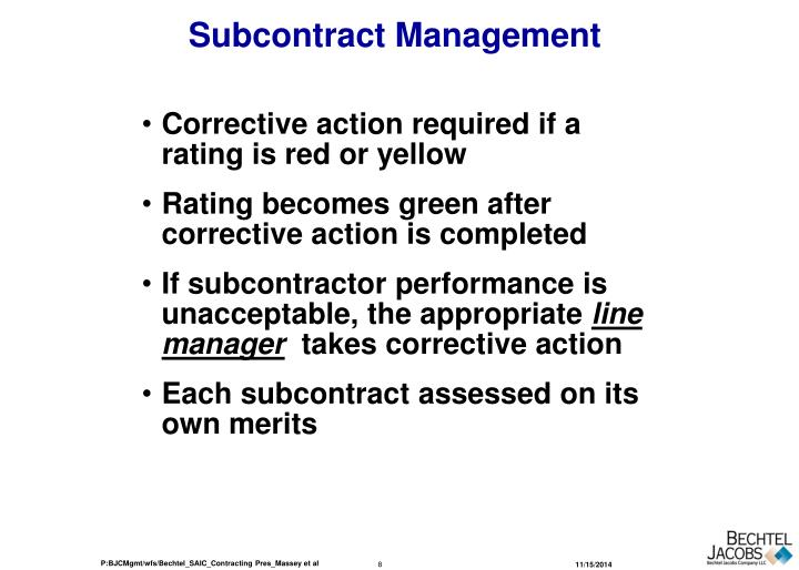 Subcontract Management