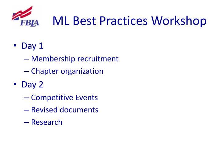 ML Best Practices Workshop