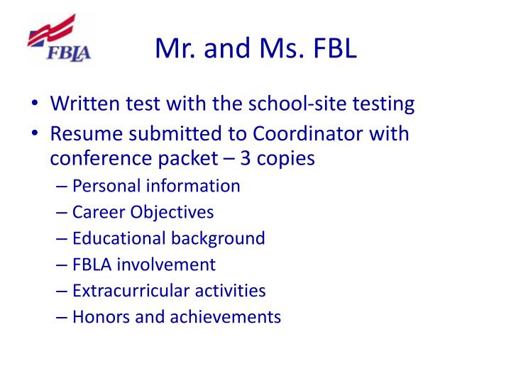 Mr. and Ms. FBL