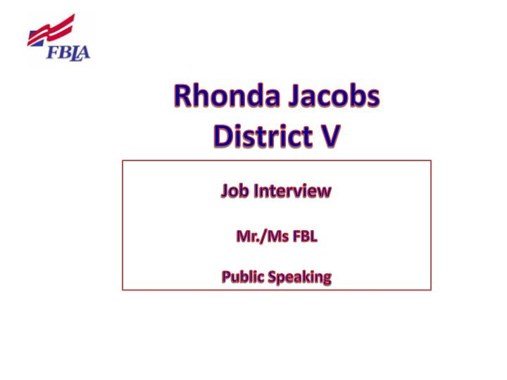Rhonda Jacobs