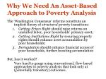 why we need an asset based approach to poverty analysis