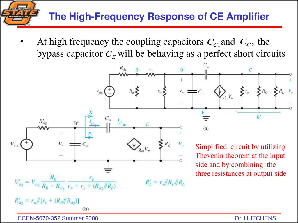 Consider A Common Emitter Amplifier Circuit Shown In Fig 1