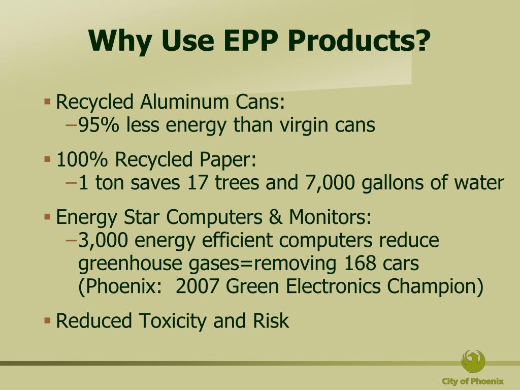PPT - Environmentally Preferable Purchasing (EPP) Program