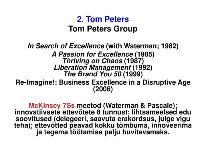2. Tom Peters