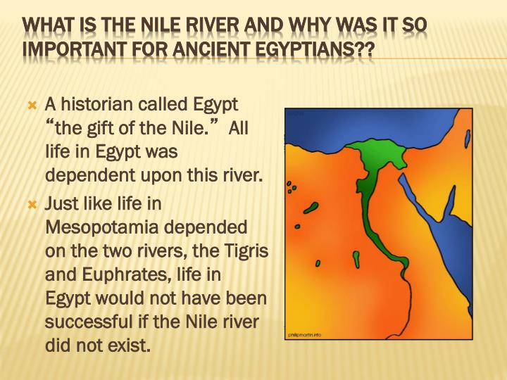 gifts of the nile river Ancient egypt: the gift of the nile like a giant snake, the nile river slithers through some of the driest desert land on earth to create a narrow green valley.