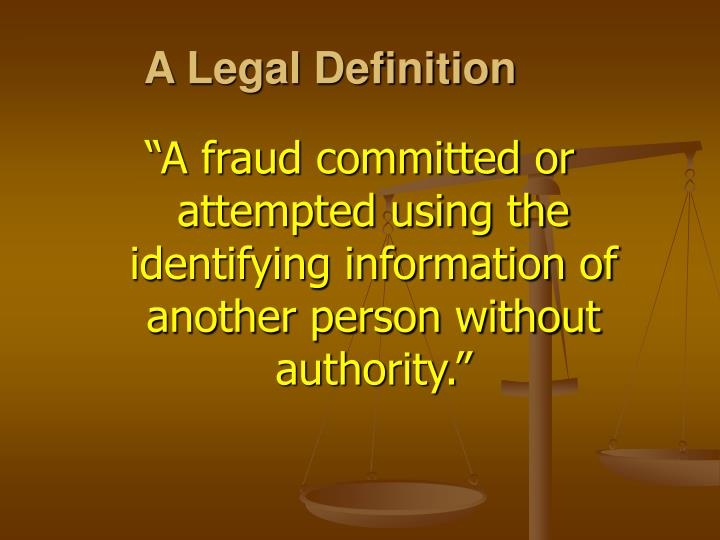 A legal definition