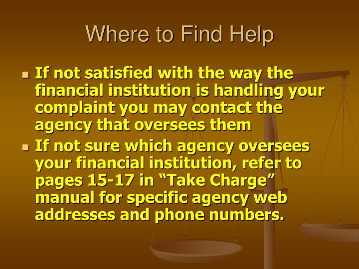 Where to Find Help