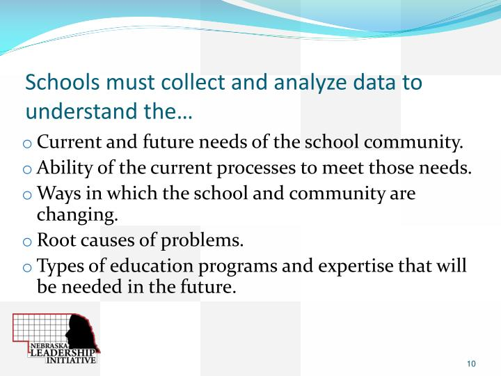 Schools must collect and analyze data to understand the…