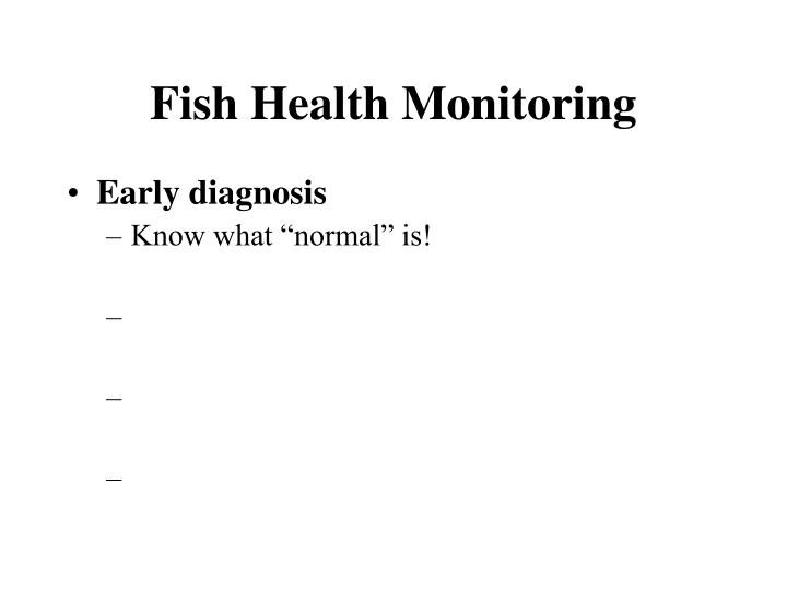 Fish Health Monitoring