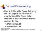 decimal dimensioning5