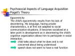 psychosocial aspects of language acquisition piaget s theory5