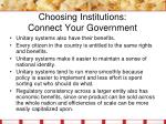 choosing institutions connect your government3