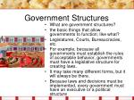 government structures