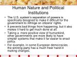 human nature and political institutions2