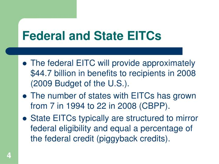 Federal and State EITCs