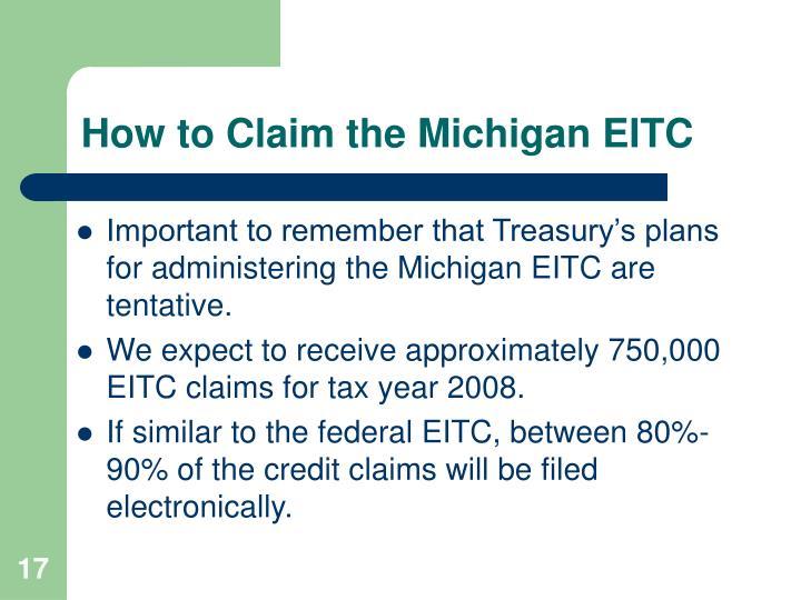 How to Claim the Michigan EITC