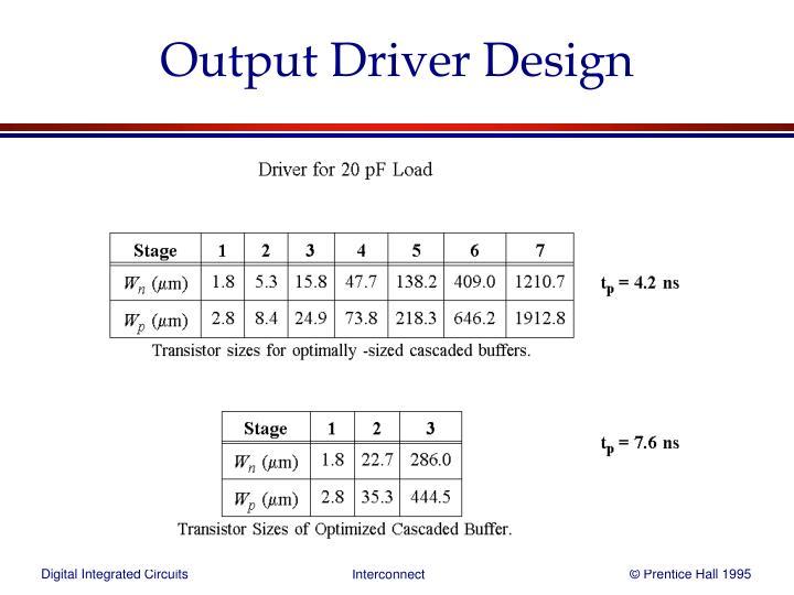 Output Driver Design