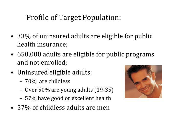 Profile of target population