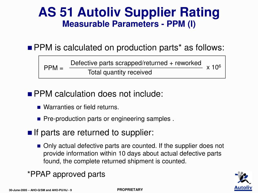PPT - AS 51 version 2 -Training Module - Supplier Rating