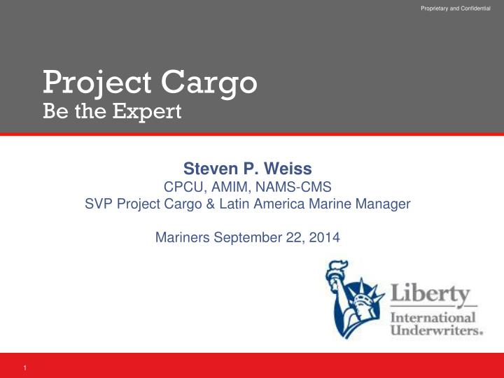 project cargo be the expert n.