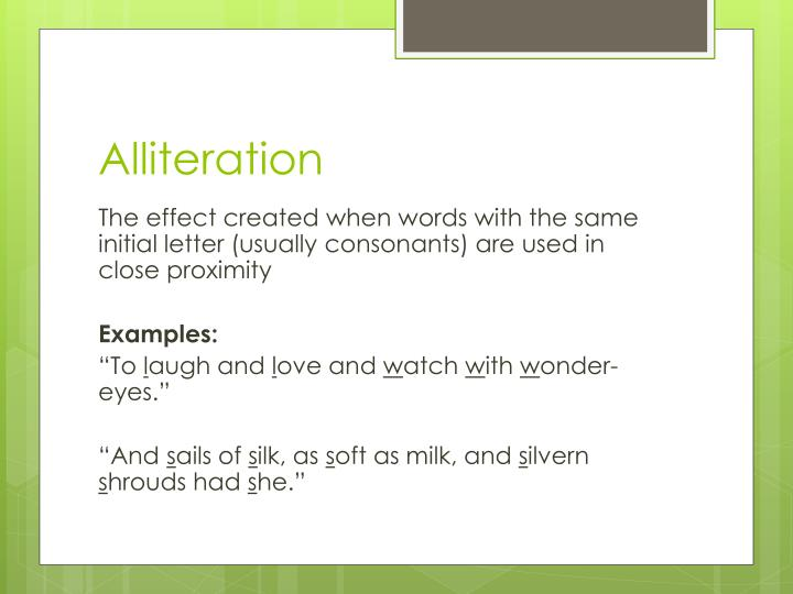 Ppt Alliteration Powerpoint Presentation Id6658845