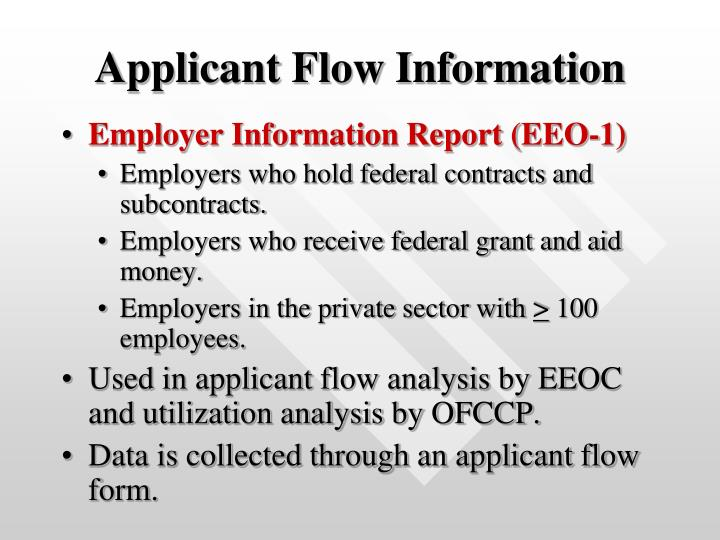 Applicant Flow Information