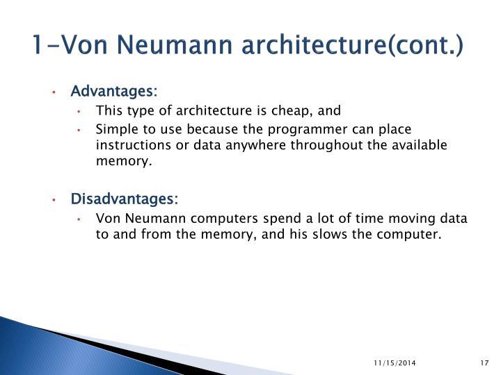 1-Von Neumann architecture(cont.)