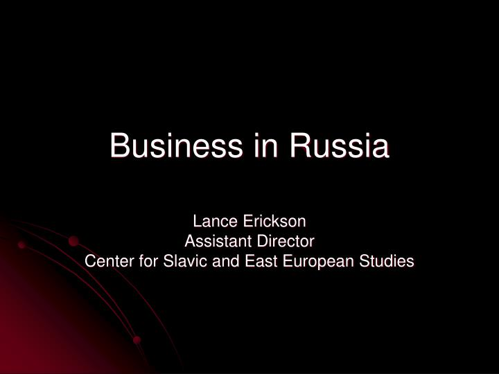 business in russia n.