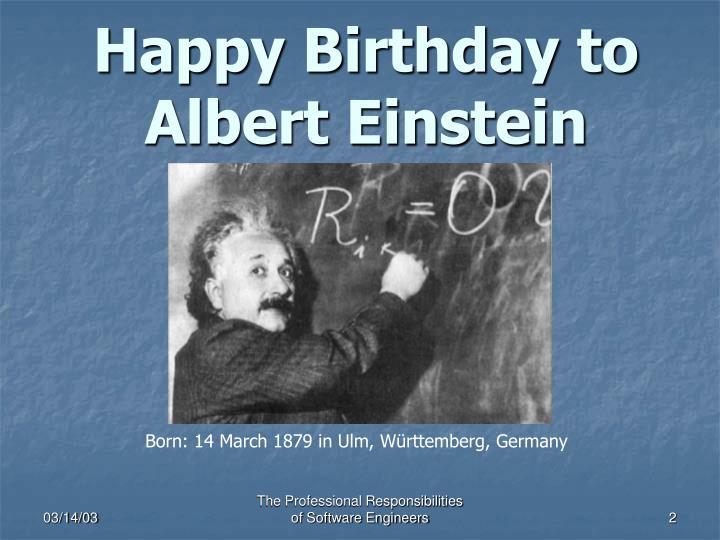 Happy birthday to albert einstein