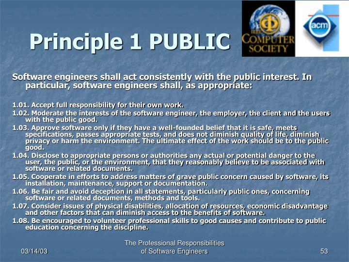 Principle 1 PUBLIC