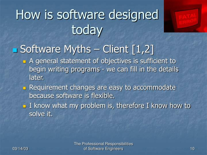 How is software designed