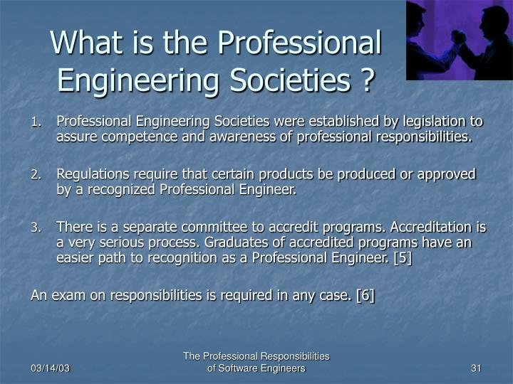 What is the Professional Engineering Societies ?