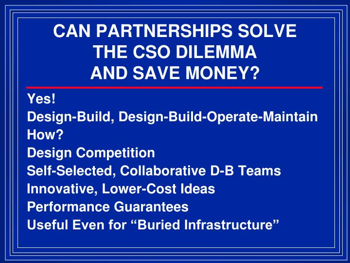 CAN PARTNERSHIPS SOLVE