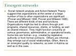 emergent networks