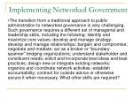 implementing networked government