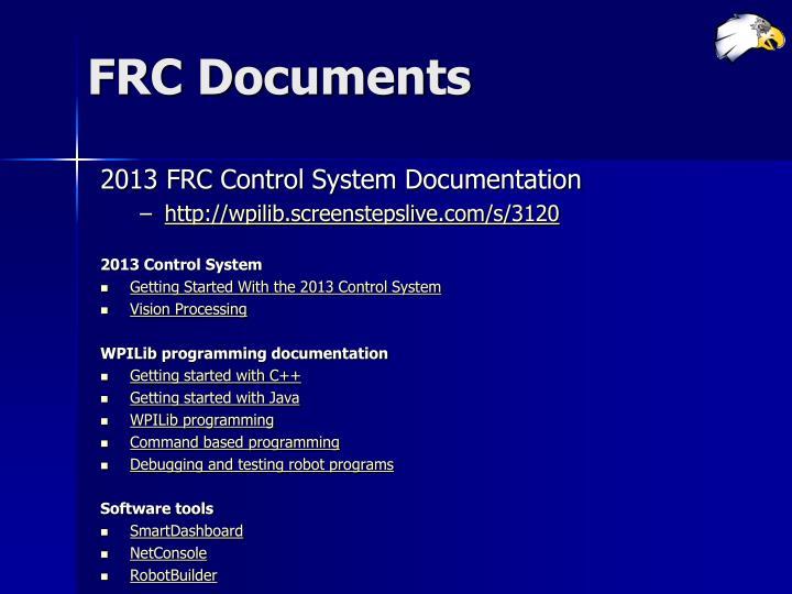FRC Documents