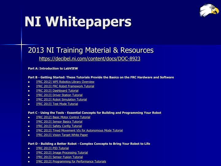 NI Whitepapers