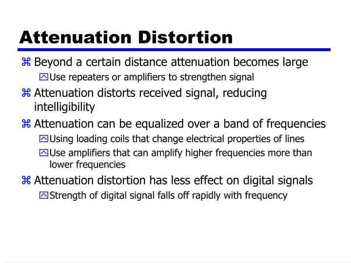 Attenuation Distortion