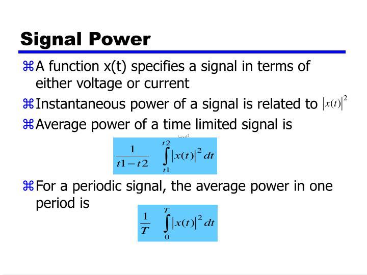 Signal Power