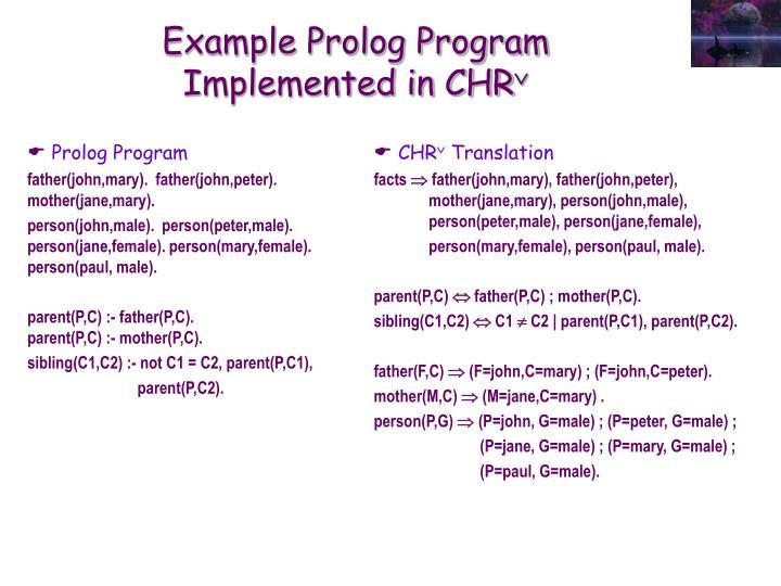 Prolog Program