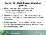 section 12 debt charges allocation cont d