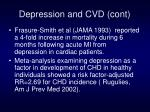 depression and cvd cont