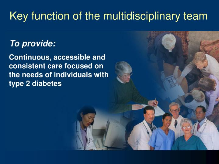 Key function of the multidisciplinary team