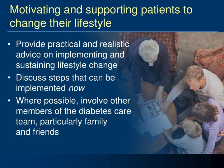 Motivating and supporting patients to change their lifestyle